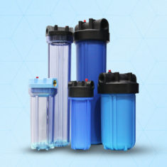 Big Blue Plastic Filter Housing